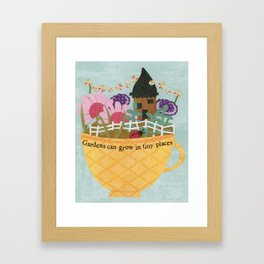Tea Garden  Framed Art Print