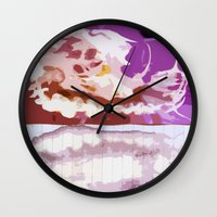 bleach Wall Clocks featuring Pink Bleach by Bzerk Creative