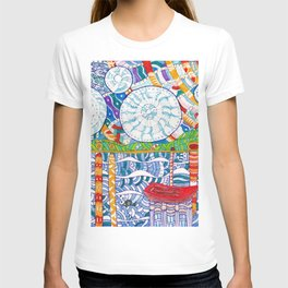 Abstract doodle Starry Night T-shirt