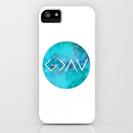 God Is Greater Than the Highs and Lows iPhone Case