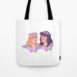 xena and gabrielle - flower crowns Tote Bag