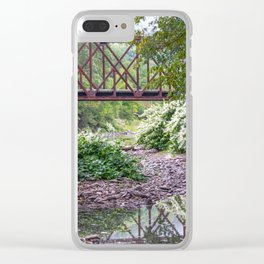 Train Bridge over The Beaverkill River Clear iPhone Case