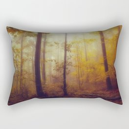 Rainwood - Dreamy Fall Forest Rectangular Pillow