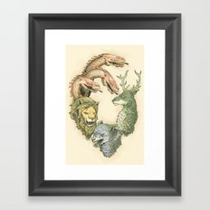 fight for the throne Framed Art Print