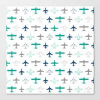 planes Canvas Prints featuring Planes by chantae