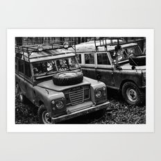 Heritage Rovers in BW Art Print