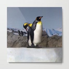 The Speculating Penguin Metal Print
