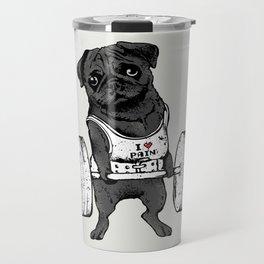 Black Pug Lift Travel Mug