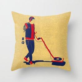 Heavy Metal Detector Throw Pillow
