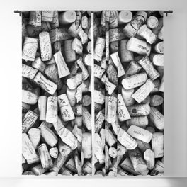 Something Nostalgic II Twist-off Wine Corks in Black And White #decor #society6 #buyart Blackout Curtain