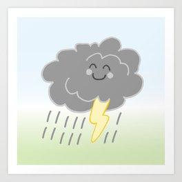 Floof Storm Cloud Art Print
