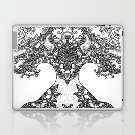 Unity of Halves - Life Tree - Rebirth - White Laptop & iPad Skin