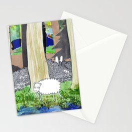 lost sheep Stationery Cards