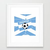 argentina Framed Art Prints featuring Argentina Football by mailboxdisco