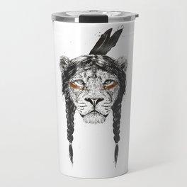 Warrior lion Travel Mug