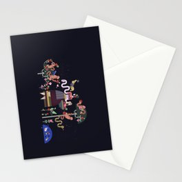 Monkeys and fruits Stationery Cards