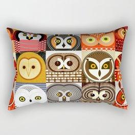 North American Owls Rectangular Pillow
