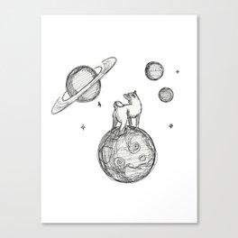 Shiba in space Canvas Print
