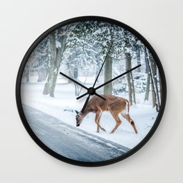 The chill of winter Wall Clock