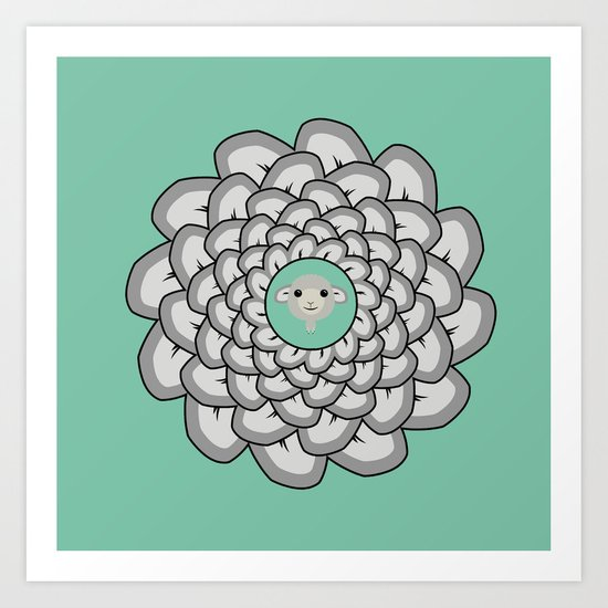 Sheep Ear Art - 2 Art Print