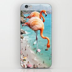 Flamingos on the Beach #society6 #decor #buyart iPhone & iPod Skin