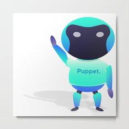 Puppet Robot Metal Print
