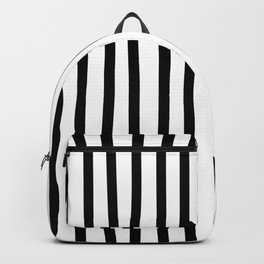 Black and white drawing stripes - striped pattern Backpack