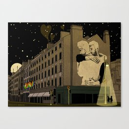 Dublin Scene of Joe Caslin Mural: The Irish Marriage Equality Referendum Canvas Print