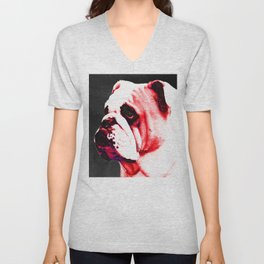 Southern Dawg By Sharon Cummings Unisex V-Neck