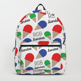 RGB Sundae Pattern Backpack