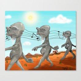 """Dr. Seuss' """"Michael Stipe""""  Canvas Print"""