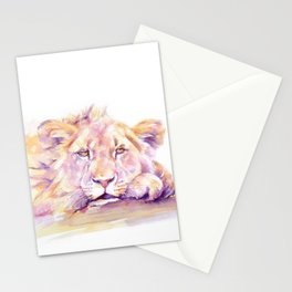 Lion _ Too hot to hunt Stationery Cards