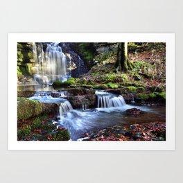 Scaleber Foss Waterfall Art Print
