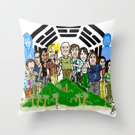 The Oceanic 815 survivors and the Others always had their issues...  LOST Throw Pillow