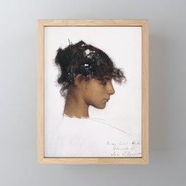 John Singer Sargent Rosina Ferrara Head of a Capri Girl Framed Mini Art Print