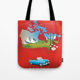 Canada illustrated travel poster. Tote Bag