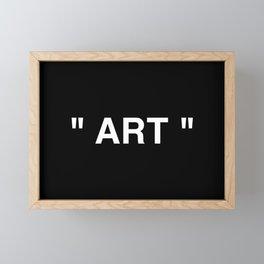 """ Art "" (Negative) Framed Mini Art Print"
