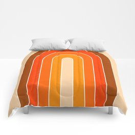 orange retro u stripes Comforters