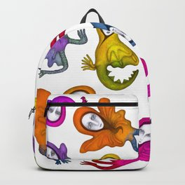 colorful flying witches Backpack