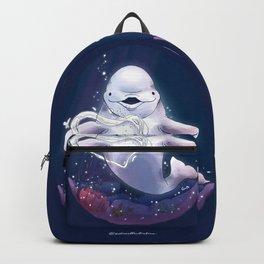 Beluga Whale Blow Kiss Backpack