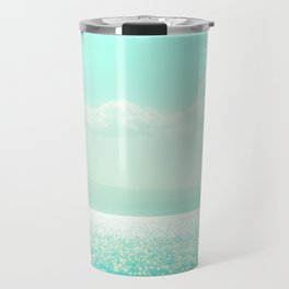 Winter Aqua Sparkling Seashore Travel Mug
