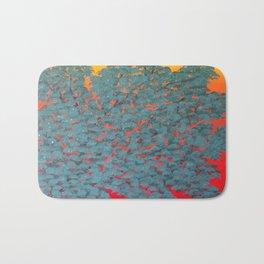 Turquoise tree Bath Mat