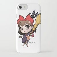 kiki iPhone & iPod Cases featuring Chibi Kiki by Warbunny