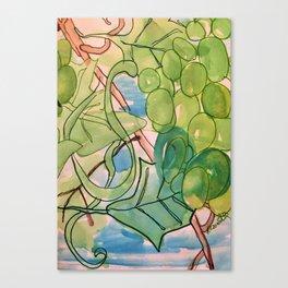 Green Grapes Canvas Print