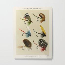 Bass Flies - Bass fly fishing Metal Print