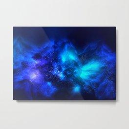 Abstract Nebula #7: Blue bang Metal Print