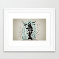 diver Framed Art Prints featuring DIVER by taniavisual