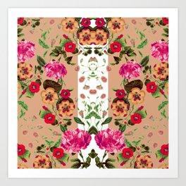 Flicker Flora Art Print