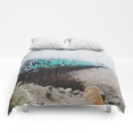 Beach Graffiti Comforters
