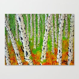 A Walk Though The Trees Canvas Print
